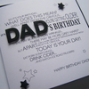 Luxury Hand Made Birthday Card for Dad - personalised details.