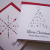 Multi Pack (6) Luxury Christmas Cards (small) - each individually personalised.