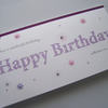 Hand-Made Birthday Card - can be personalised.