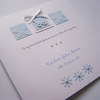 Baby Boy, Hand-Made & Personalised Christening, Baptism, Naming Day, Congratulations Card.