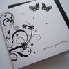 Luxury Hand Made Birthday Card - can be personalised.