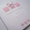 Luxury Hand-Made & Personalised Christening, Baptism, Naming Day, Congratulations Card.
