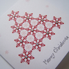Hand-Made Multipack Snowflake Tree Christmas Greetings Cards.