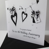 Lovely Hand Made and Personalised Anniversary Card.