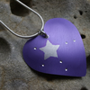 Purple heart with stars necklace