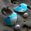Sale!!Turquoise and green bird earrings