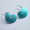 Shell earrings in turquoise