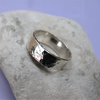 Hallmarked Hammered sterling silver ring