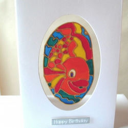 "Fishy ""Happy Birthday"" card"