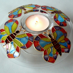 Butterfly t-light candle holder