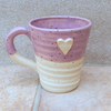 Coffee mug tea cup in stoneware hand thrown wheelthrown pottery star