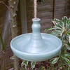 Bird feeder or bath in stoneware-- fully weatherproof pottery