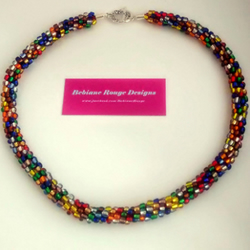 Multicoloured Kumihimo Beaded Necklace
