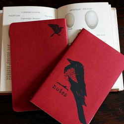 Magpies pocket moleskine cahier- red
