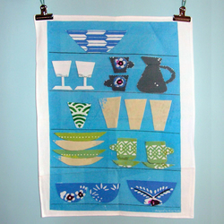 Shelves Design Tea Towel