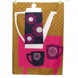 Floral Tea Set Tea Towel