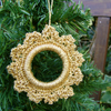 Crochet Metallic Yarn Christmas Decoration  (Gold)