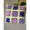 Crochet Granny Square cushion 'Spring Garden'