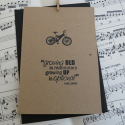 Bicycle Recycled Card