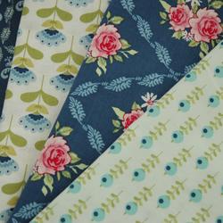 Tilda Fabric Fat Quarter FQ Bundle-Blue Green Pink-Quilting Patchwork Bunting