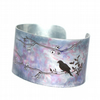 Bird on a branch cuff - narrow