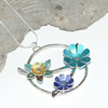 SALE 30% OFF! Spring flowers statement necklace
