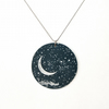Night sky pendant - large circle