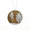 Light between the trees pendant - large circle