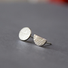 Moon and half moon silver studs