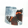 Red admiral butterfly cuff