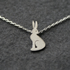 Edge of the woods tiny hare necklace