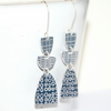 Monochrome dangle earrings