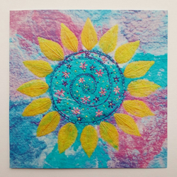 Sunflower Printed Greetings Card