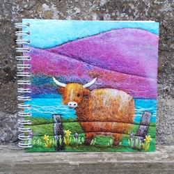 Highland Cow Notebook plain and ruled