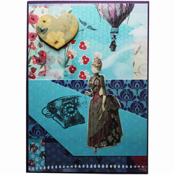 Victorian Hot Air Balloon A6 Card
