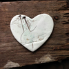 Winter Ceramic Heart Brooch