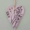 Organic Hanging Heart Decoration