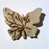 Butterfly Brooch with Pine Tree Design