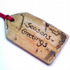 Ceramic Gift Tag - Seasons Greetings