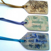 Pack of Personalised Ceramic Gift Tags