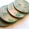 Lily Pond Coasters - Set of 4