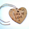 Ceramic Gift Tag - Lots of Love