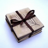 Natural Leaf Coasters set of 4