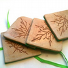 Leaf Coasters - set of 4