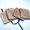 Natural Leaf Coasters set of 4 - RESERVED
