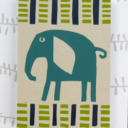 Elephant print notebook - jade