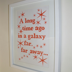 Star wars papercut, any film quote or lyric available