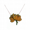 Lovely layered Yellow Poppy Resin Flower Necklace Pendant by EllyMental