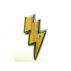Large Yellow Lightening Bolt Queen Resin Brooch by EllyMental