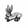 Thrift Rabbit/ Hare Brooch *literary kitsch vintage* by EllyMental Jewellery